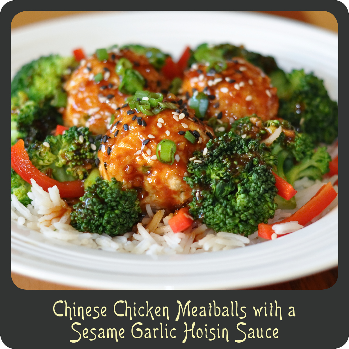 Recipechinese chicken meatballs with a sesame garlic hoisin sauce i forumfinder Gallery