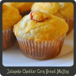 Jalapeño Cheddar Corn Bread Muffins