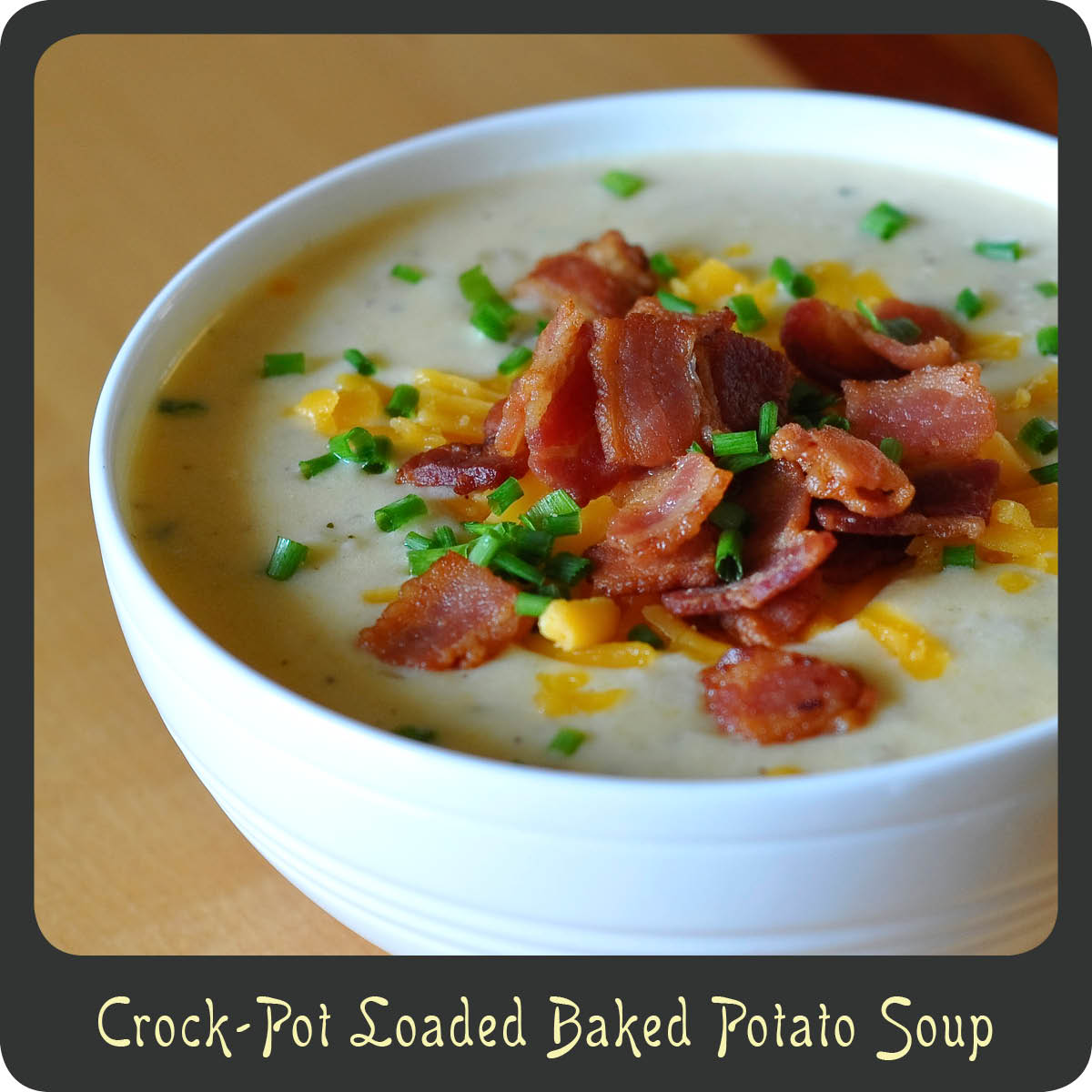 Recipe—Crock-Pot Loaded Baked Potato Soup | Diva di Cucina