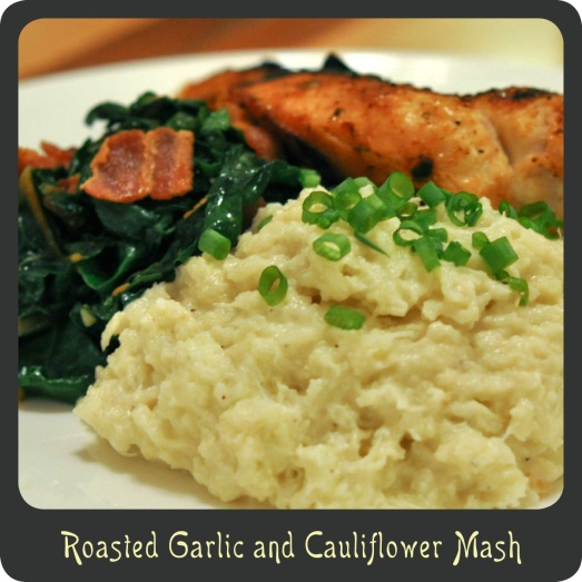 Roasted Garlic and Cauliflower Mash