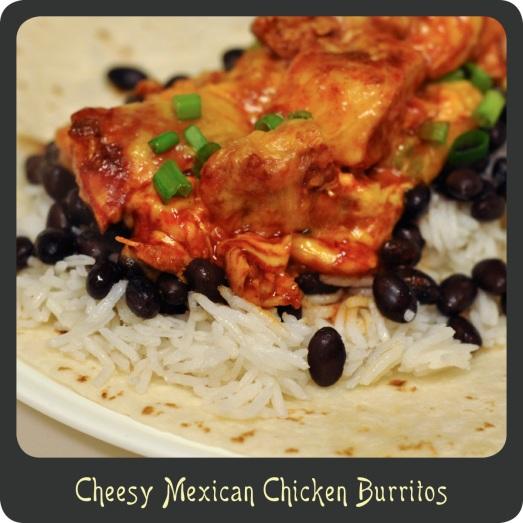 Cheesy Mexican Chicken Burritos