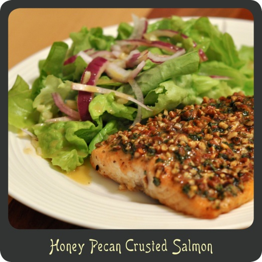 Honey Pecan Crusted Salmon
