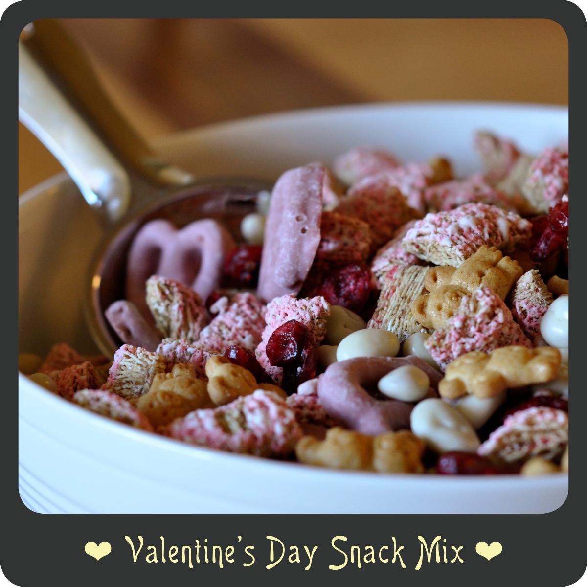 recipevalentines day snack mix