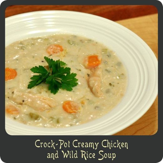 Crock-Pot Creamy Chicken and Wild Rice Soup