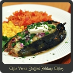 Chile Verde Stuffed Poblano Chiles