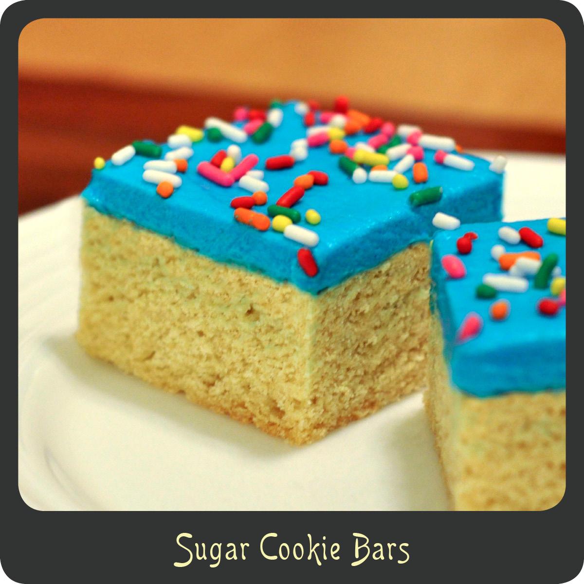 Sugar Cookie Bars |