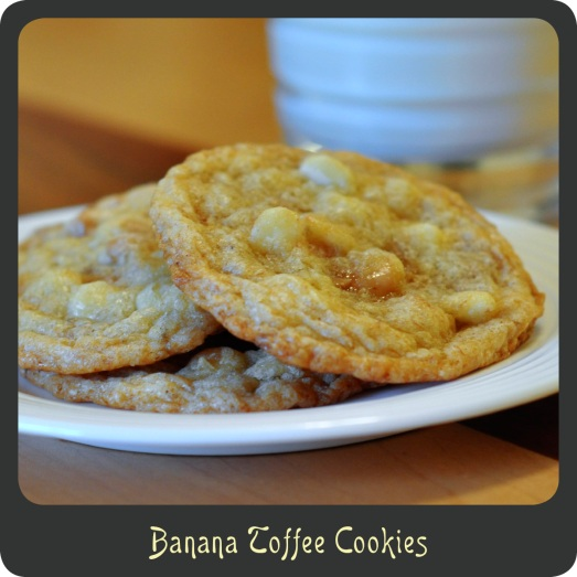 Banana Toffee Cookies