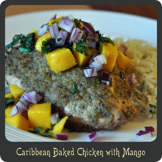 Caribbean Baked Chicken with Mango