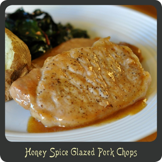 Honey Spice Glazed Pork Chops
