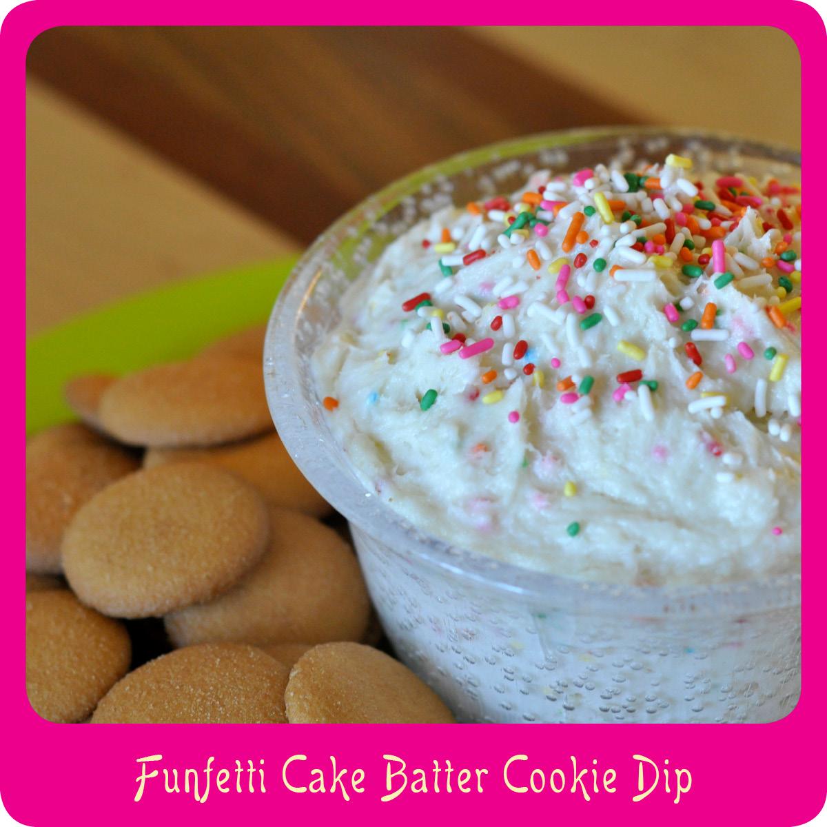 Strange Recipefunfetti Cake Batter Cookie Dip Funny Birthday Cards Online Drosicarndamsfinfo