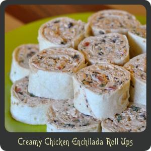 Creamy Chicken Enchilada Rollups