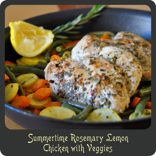 Summertime Rosemary Lemon Chicken with Veggies