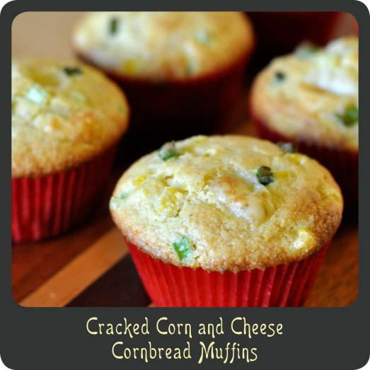 Cracked Corn and Cheese Cornbread Muffins
