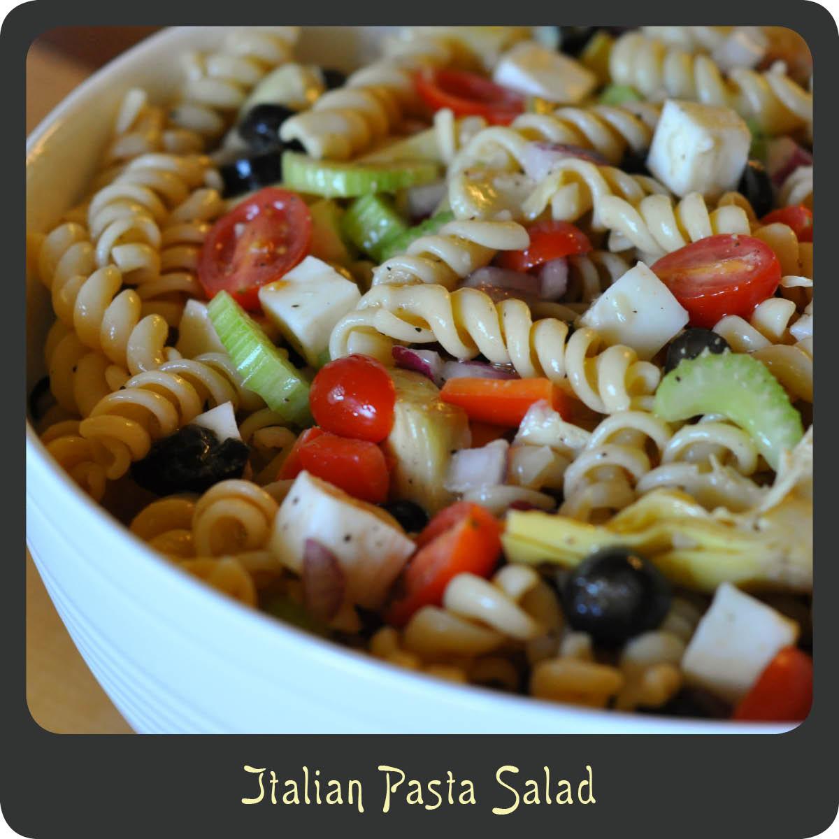 Recipe italian pasta salad diva di cucina Pasta salad recipe cold