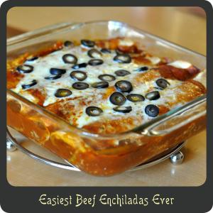 Easiest Beef Enchiladas Ever