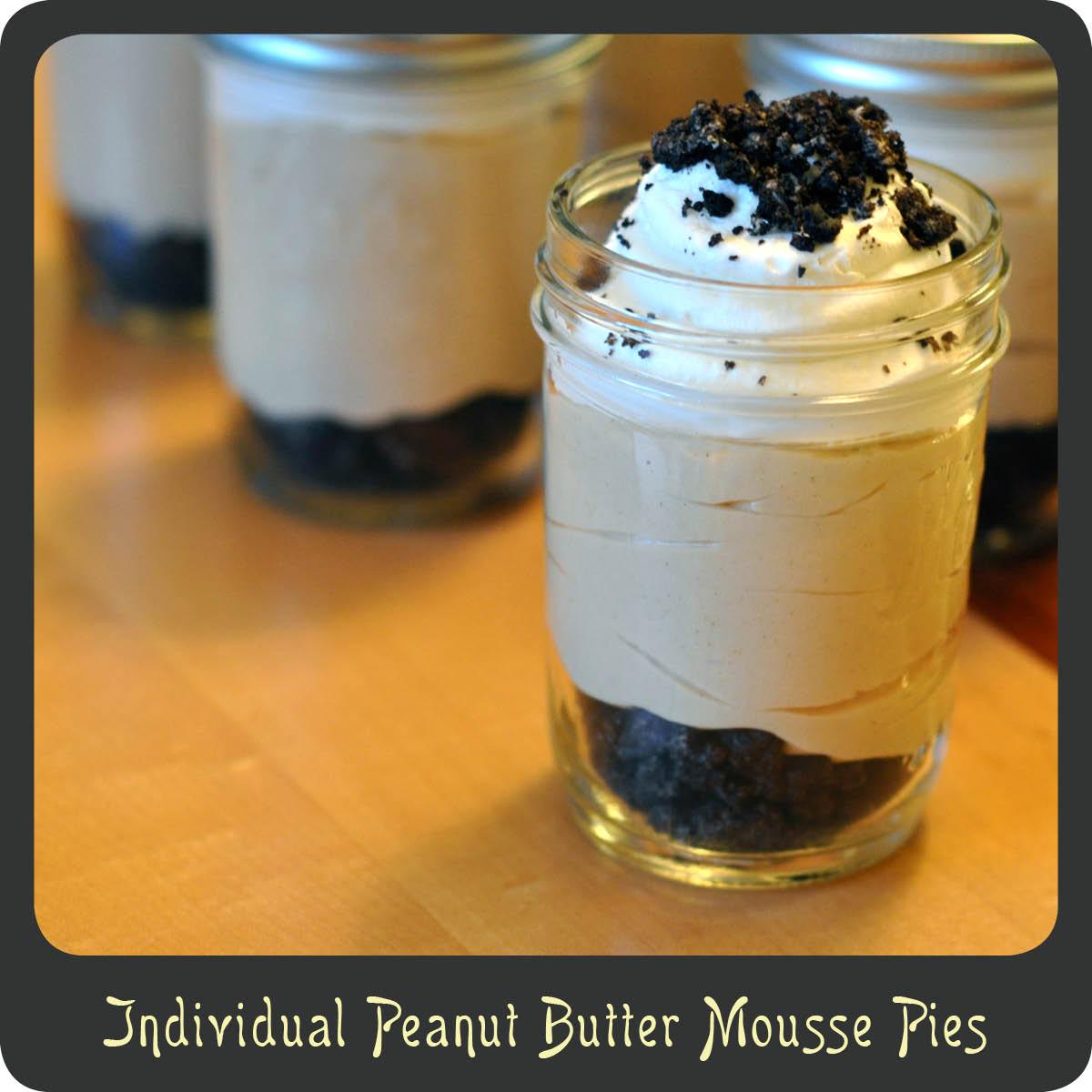 Recipe—Individual Peanut Butter Mousse Pies | Diva di Cucina