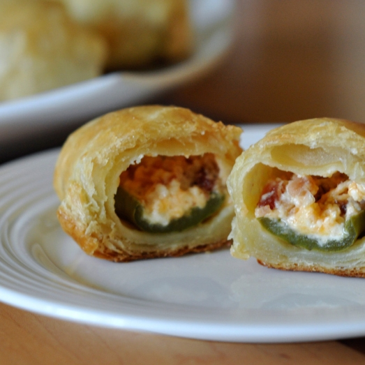 Bacon Jalapeño Poppers Wrapped in Puff Pastry