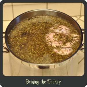 Brining the Turkey