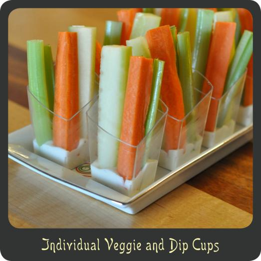 Veggie and Dip Cups