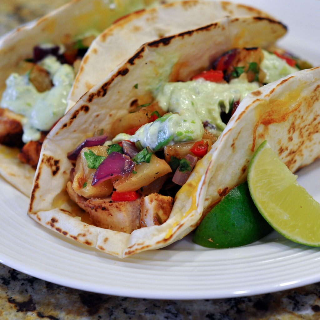 Grilled Chili Lime Chicken Tacos with Pineapple Salsa