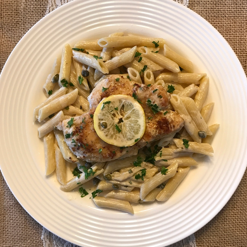 Recipe—Creamy Lemon Chicken Pasta