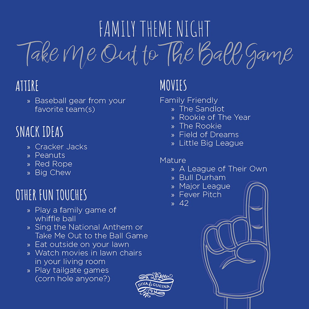 Family Theme Night—Take Me Out to The Ball Game