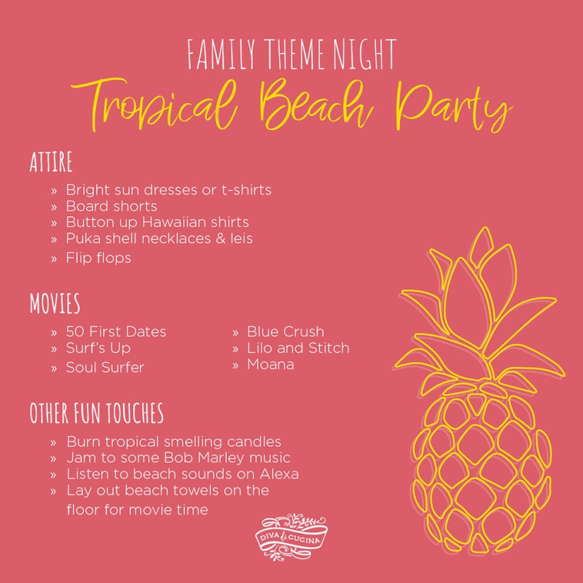 Family Theme Night—Tropical Beach Party