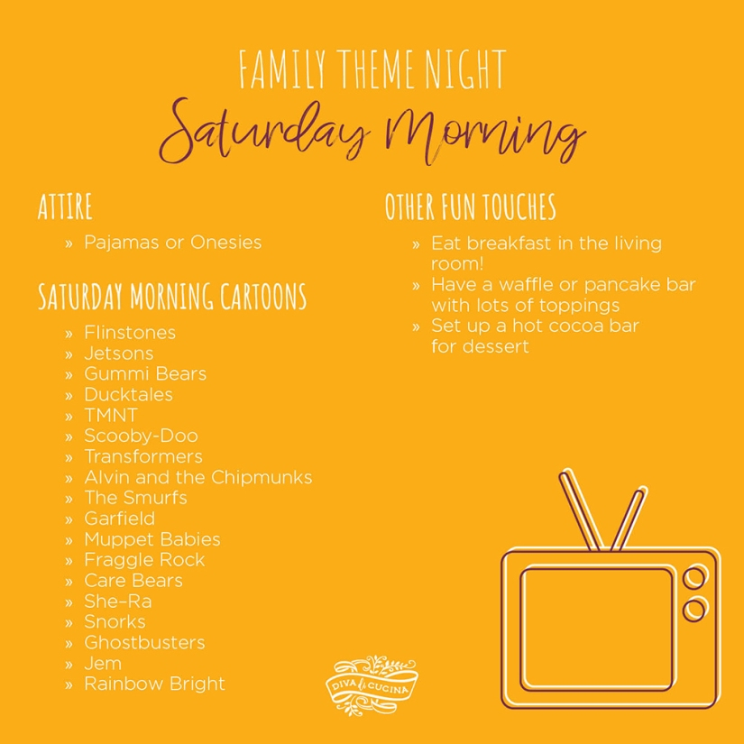 Family Theme Night—Saturday Morning