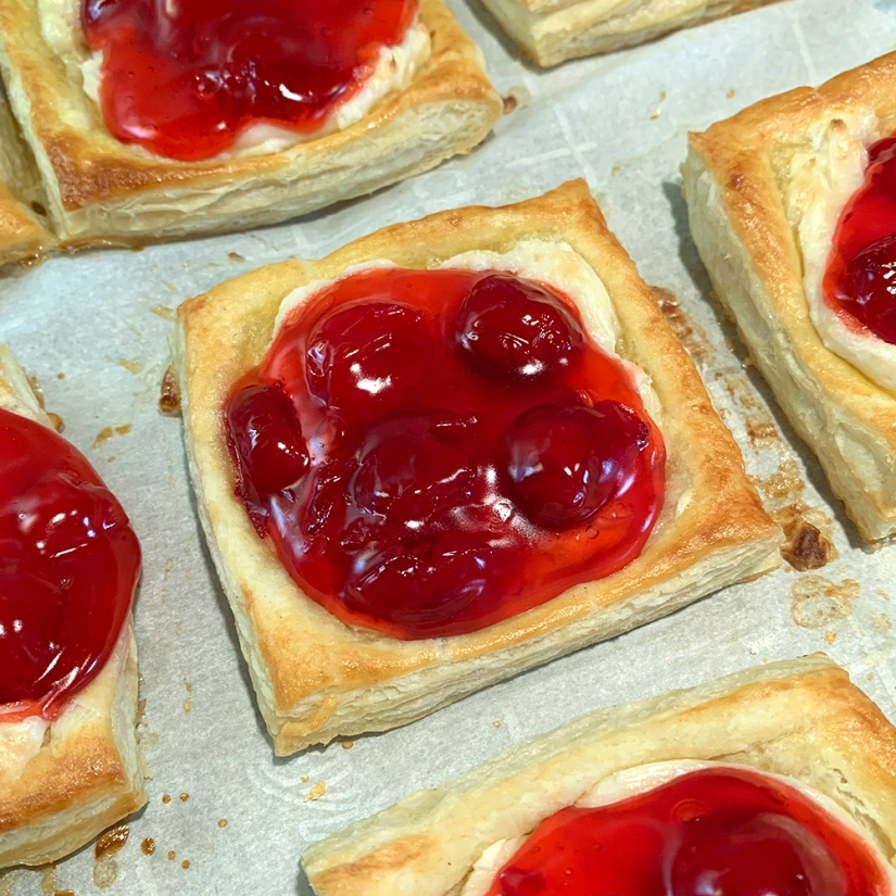 Cherry Cream Cheese Danishes