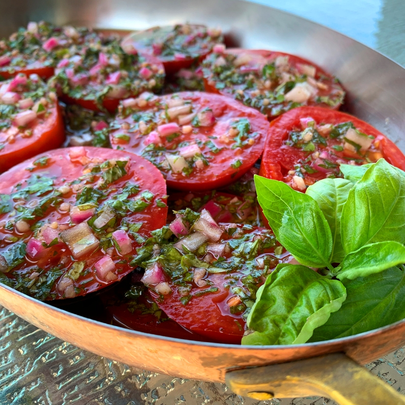 Summertime Marinated Tomatoes