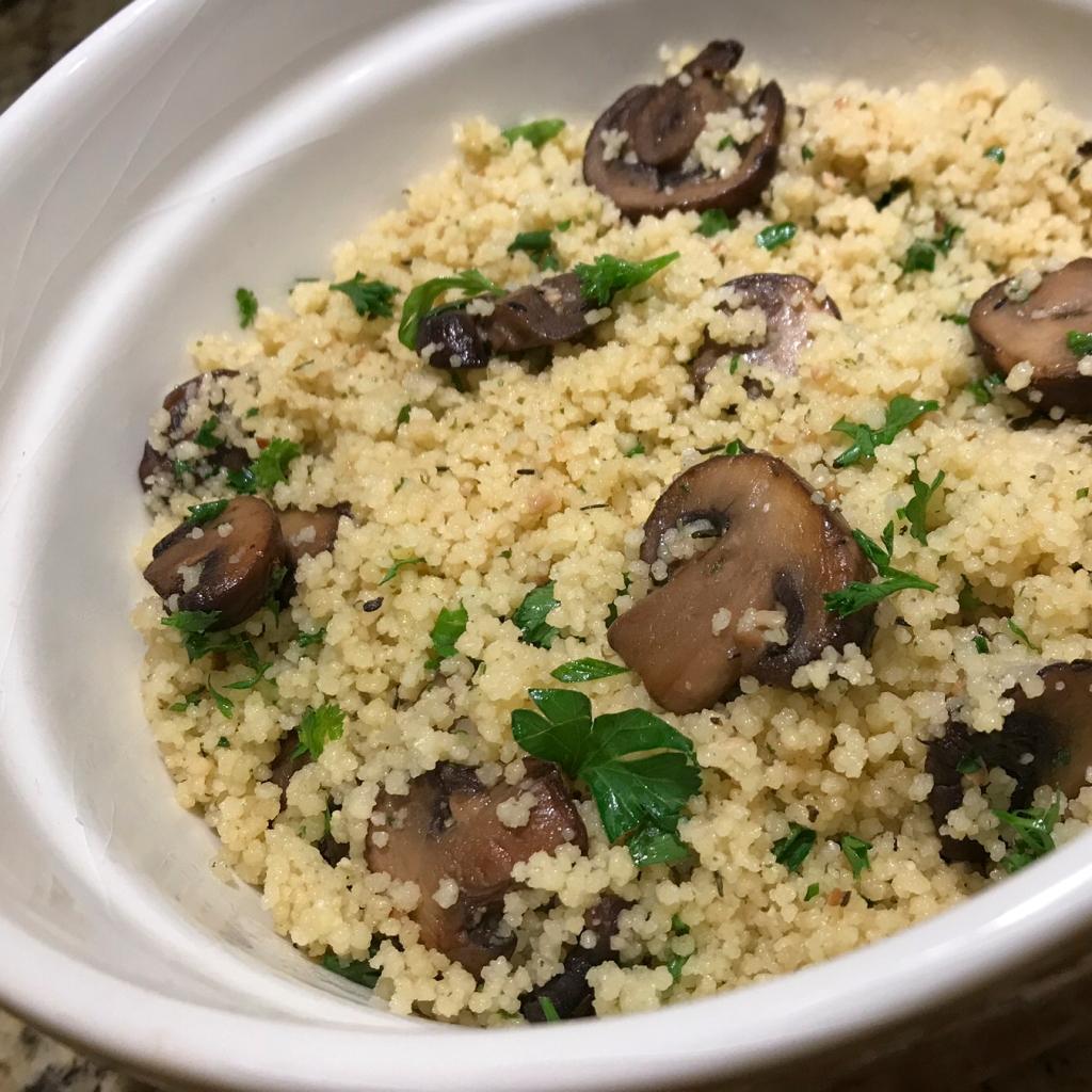 Recipe—Mushroom Garlic Couscous