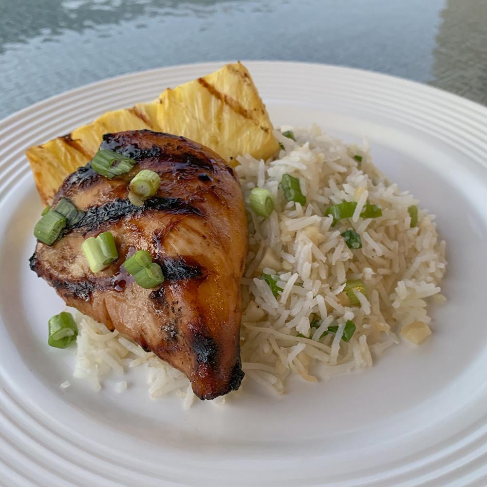 Grilled Hawaiian Chicken & Pineapple