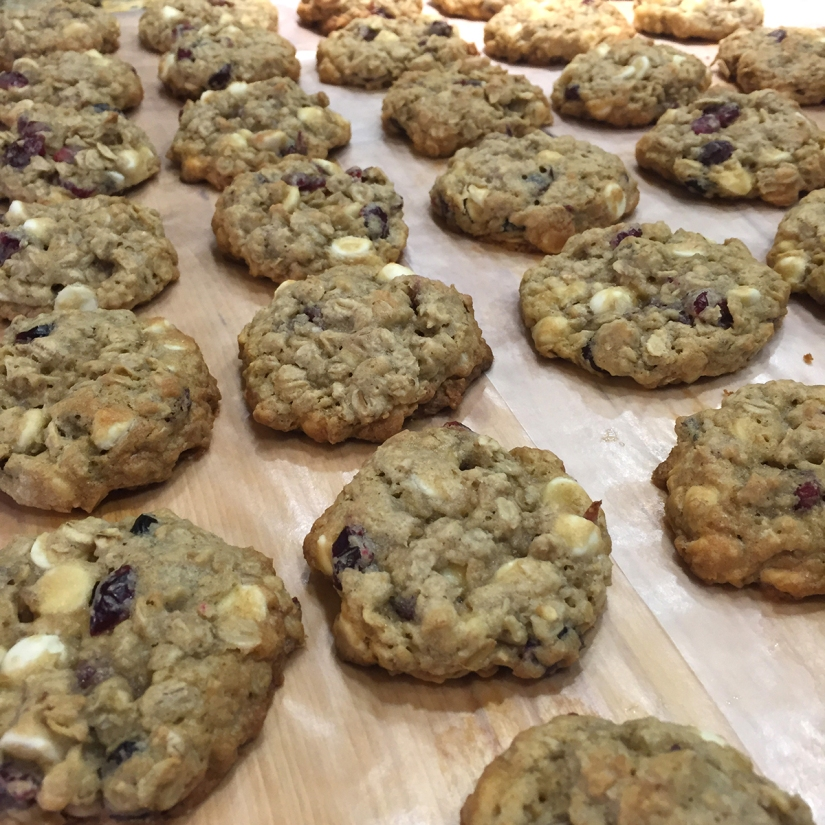Craisin White Chocolate Chip Oatmeal Cookies